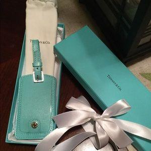 Tiffany & Co Leather Luggage Tag NWB AUTHENTIC